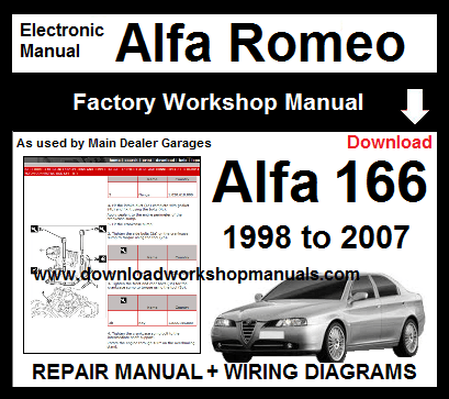 Alfa Romeo 166 Workshop Repair Manual & Wiring Diagrams 1998 ... on