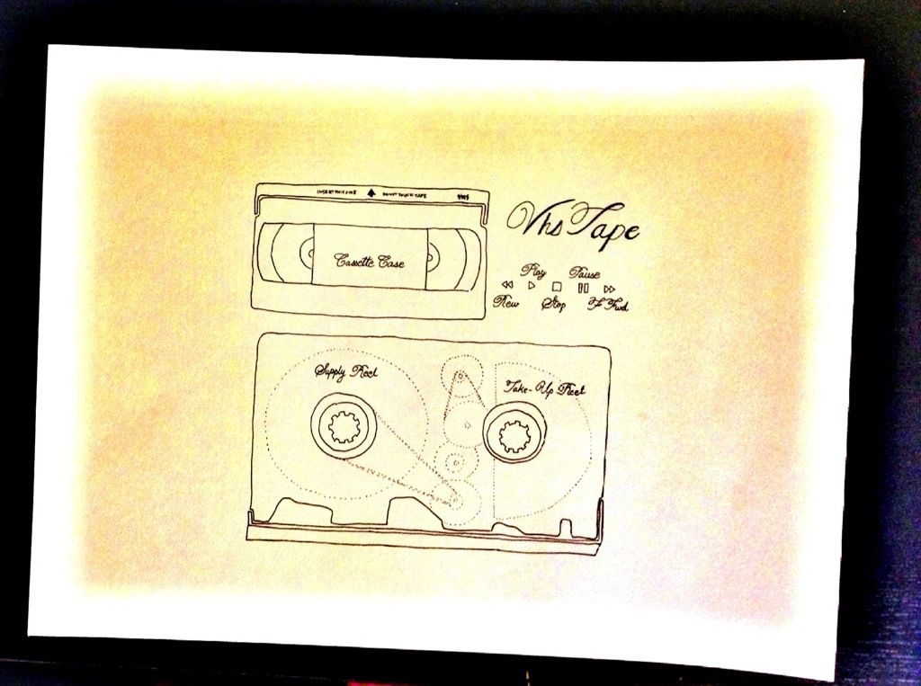 Vhs Tape Drawing Of The Day Vhs Tapes Vhs Tape