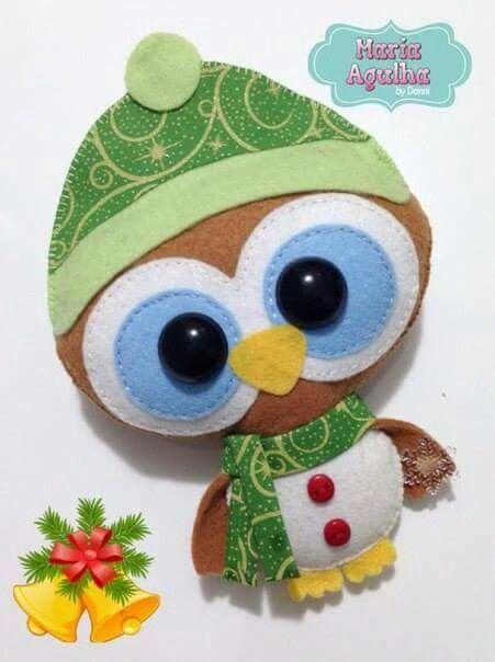 Buho navideño Ideas para el hogar Pinterest Fieltro - imagenes de manualidades