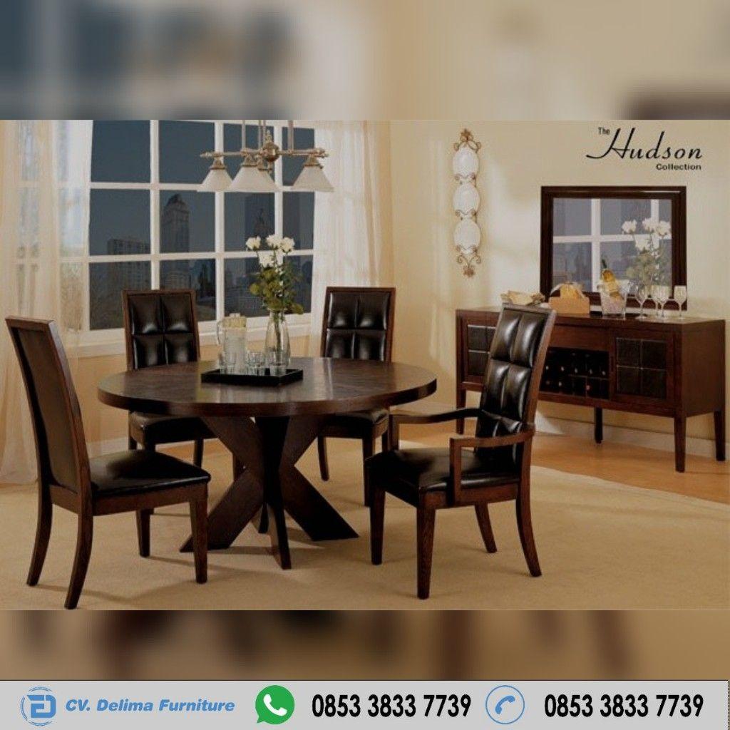 Kursi Makan Meja Bulat Minimalis Murah Cv Delima Furniture