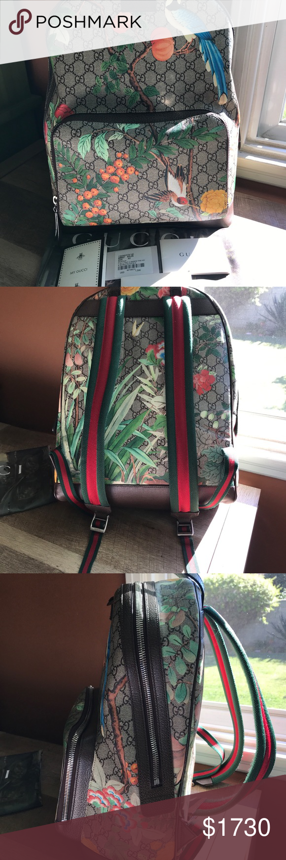 ef9cad72968 Spotted while shopping on Poshmark  Gucci GG Supreme Tian Backpack!   poshmark  fashion  shopping  style  Gucci  Other