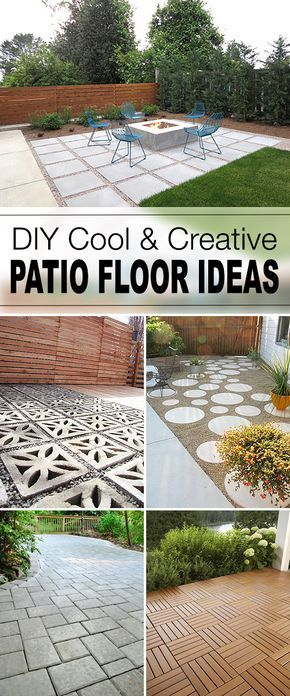 9 diy cool & creative patio flooring ideas | patios - Diy Patio Floor Ideas