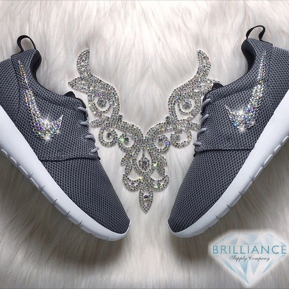 pretty nice 0de5e f3b40 Swarovski Nike Roshe One Girls Womens Shoes Authentic Nike Roshe Shoes In  Grey. They are size 6Y which is   to size 7.5 Women s.