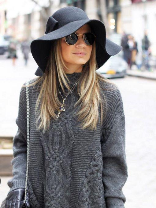 looks de inverno com chapéu floppy - Pesquisa Google  9ea3bac51b6
