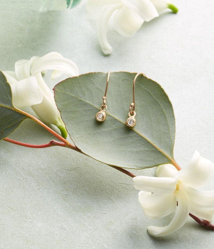 Most Thoughtful Wedding Gift Ever: Dainty Diamond Earrings In 2020