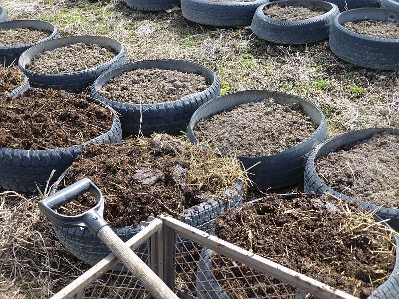 Using tires as gardening beds Emergency Preparedness