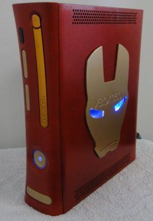 Rgh Jtag 500gb Iron Man Jasper Edition Case Mod Pinterest Xbox