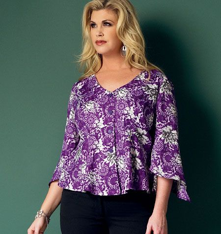c4b8ce6b92e Butterick 5967 Misses   Women s Top. Love the sizing!