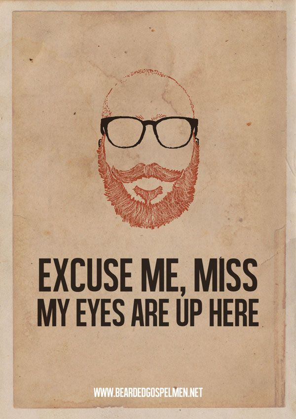 A Beard Man is a Real Man- Hilarious Quote Posters
