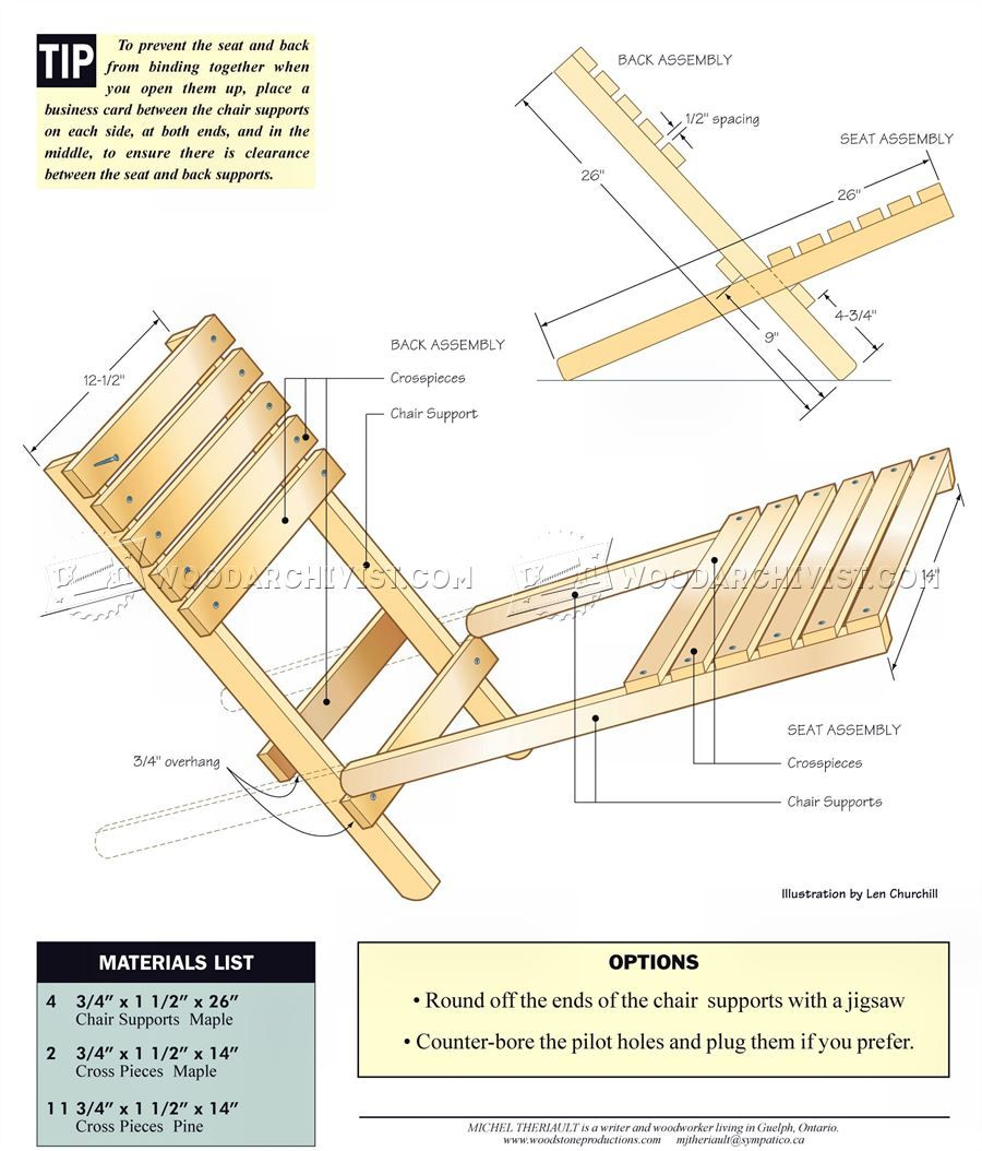 1572 Folding Chair Plans Outdoor Furniture Plans and