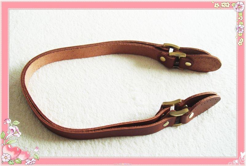 62cm+Bag+handles+Genuine+Leather+brown+from+florale-rose+by+DaWanda.com