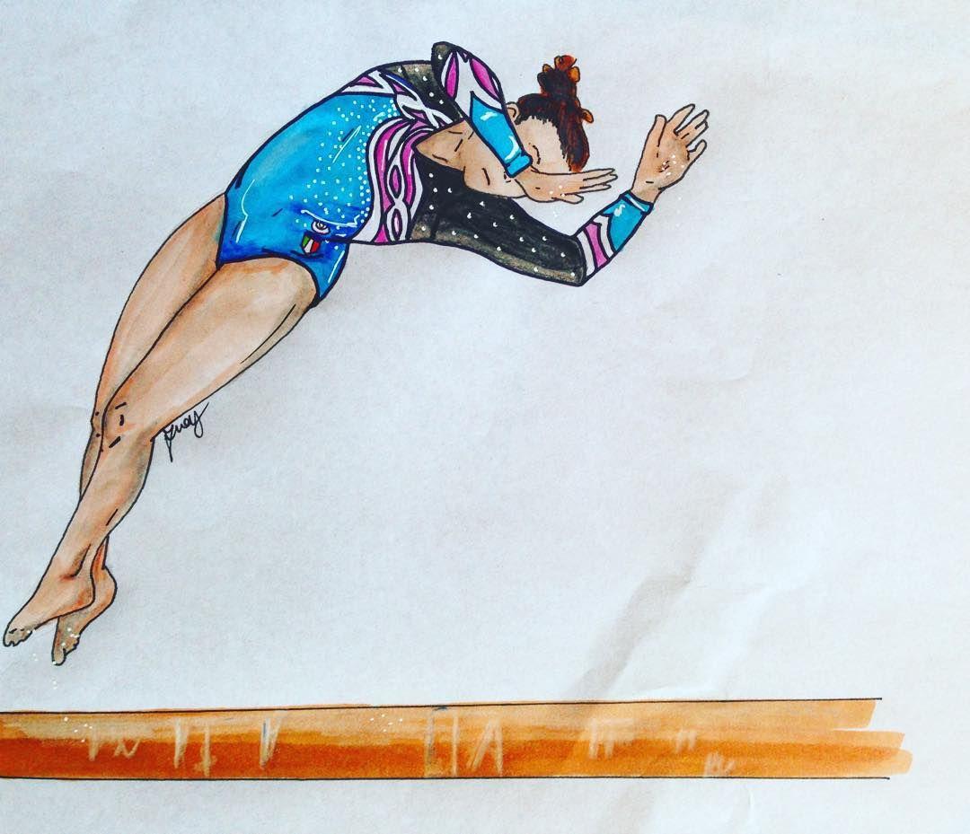 Рисунок спортивной гимнастики