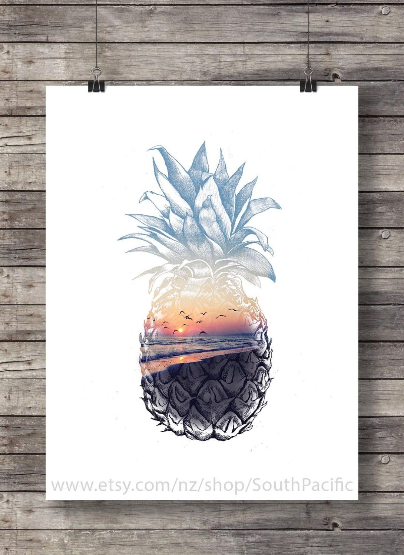 ! 297 x 210mm Tropical Island Canvas Print A4 Size