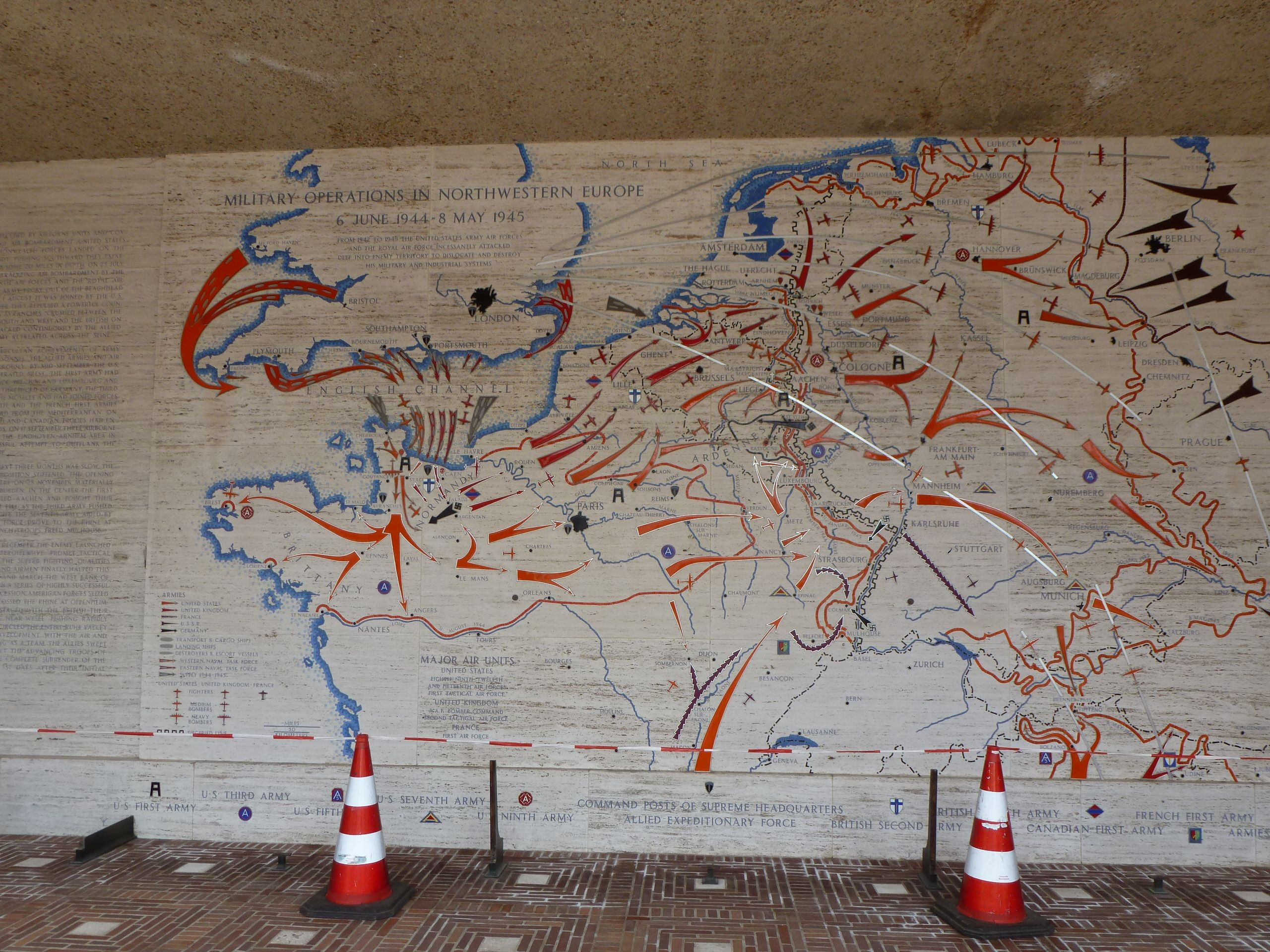 The map of operations on the grounds in Margraten Belgium