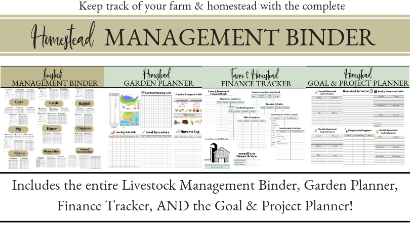 The Homestead Management Binder Finance tracker, Farm