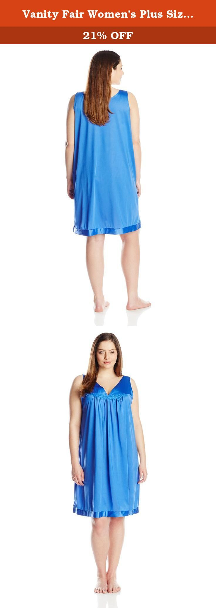 Vanity Fair Women\'s Plus Size Coloratura Sleepwear Short Gown 30807 ...
