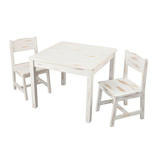 Kidkraft Aspen Table And 2 Chair Set Distressed Chair Set Table