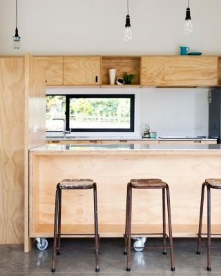 Farming · Red ArchitectureBarn KitchenKitchen ModernPlywood DesignConcrete  ...