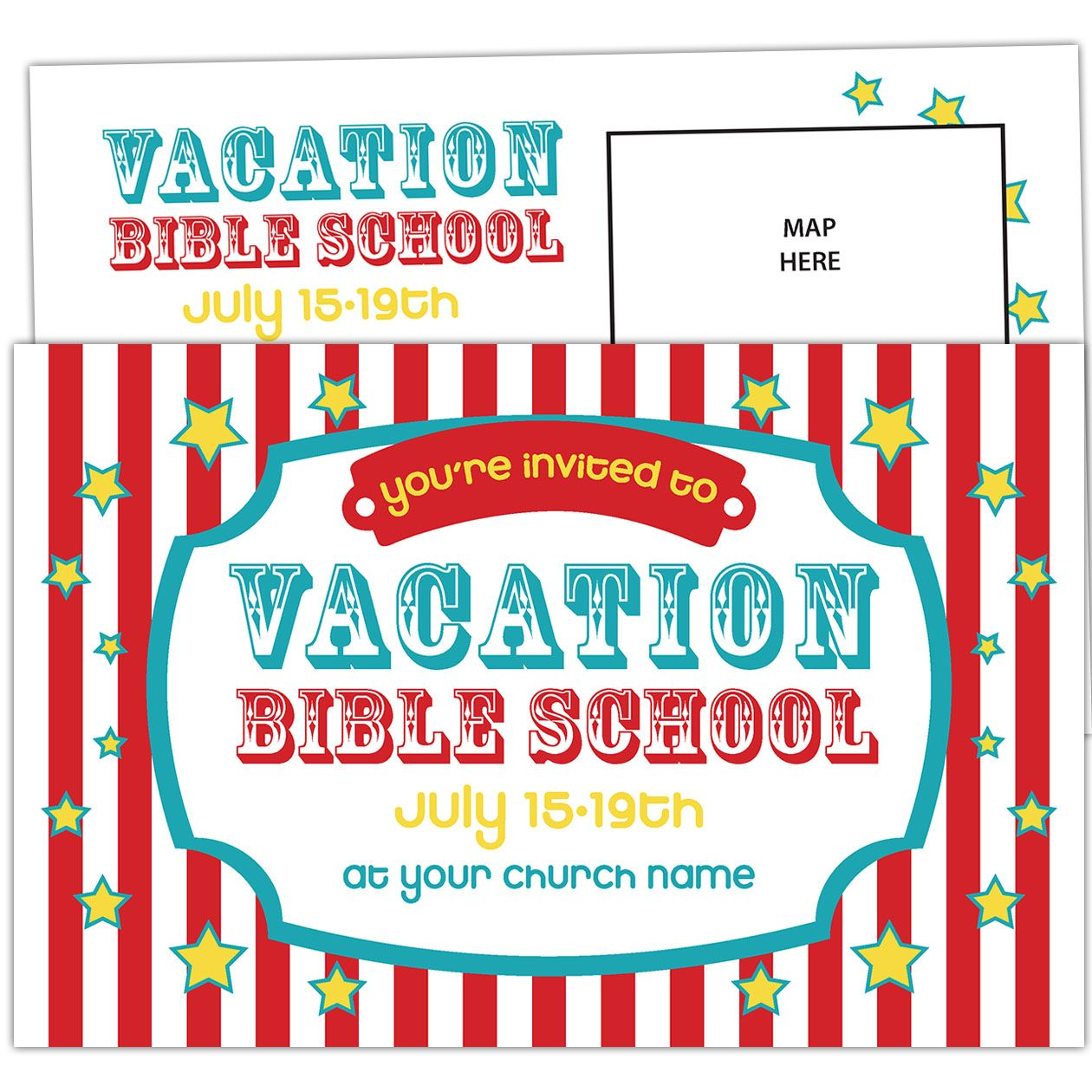 Carnival Circus Vacation Bible School Invitation | Youth Group ...