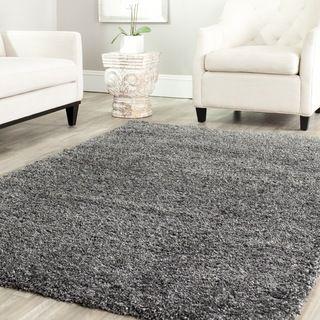 Safavieh Cozy Solid Dark Grey Shag Rug Overstock Com Shopping Great Deals On Safavieh 7x9 10x14 Rugs Grey Shag Rug Rugs Room Rugs