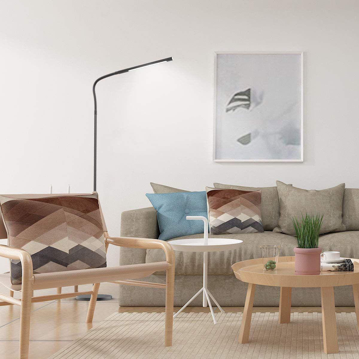 Joly Joy Floor Lamps For Living Room 12w Dimmable Flexible Gooseneck Standing Lamp Reading Light