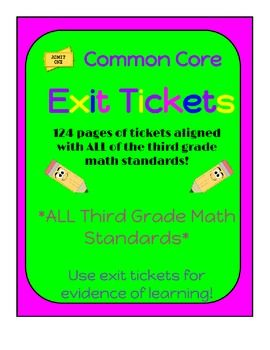 Exit tickets for third grade common core math standards all exit tickets for third grade common core math standards all standards fandeluxe Gallery