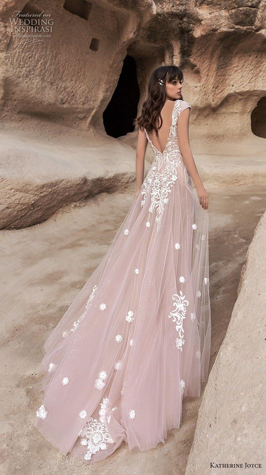 Katherine Joyce 2020 Wedding Dresses Wind Desert Bridal Collection Wedding Inspirasi Wedding Dresses Blush Pink Wedding Dresses Backless Wedding Dress