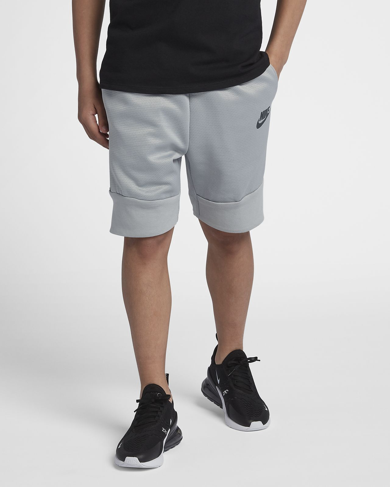 affb9d7222a Nike Sportswear Tech Fleece Big Kids' (Boys') Shorts - M (10-12 ...