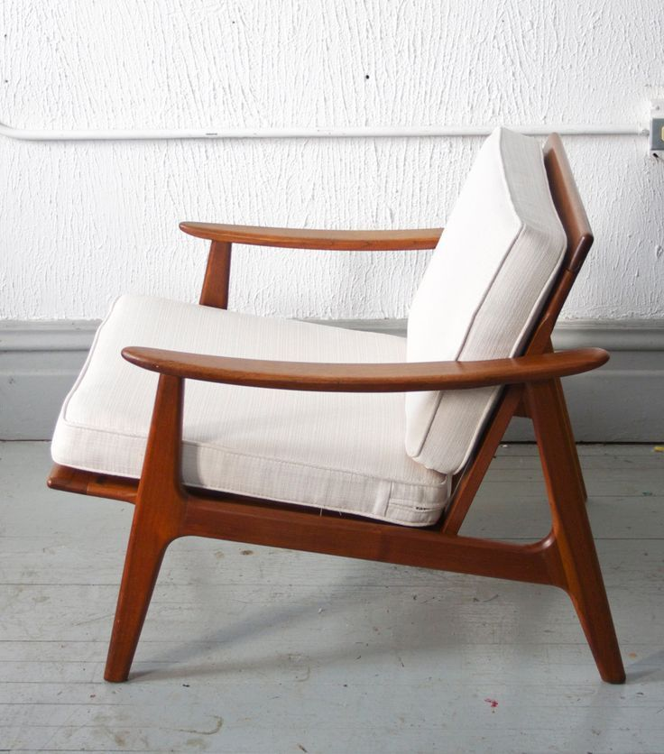 Mid Century Modern Danish Style Lounge Chair 50s 60s Mad Men 495 00 Via Etsy