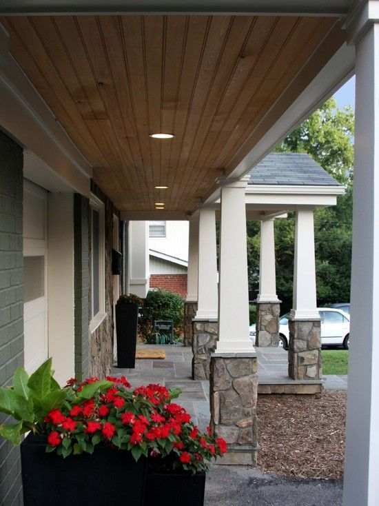 Beadboardceiling highceilinglighting ceiling porch front also rh pinterest