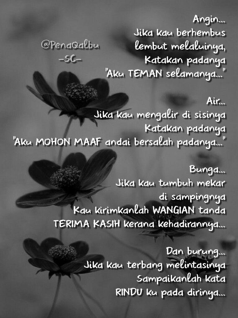 aku rindu mekar puisi aku merindukanmu