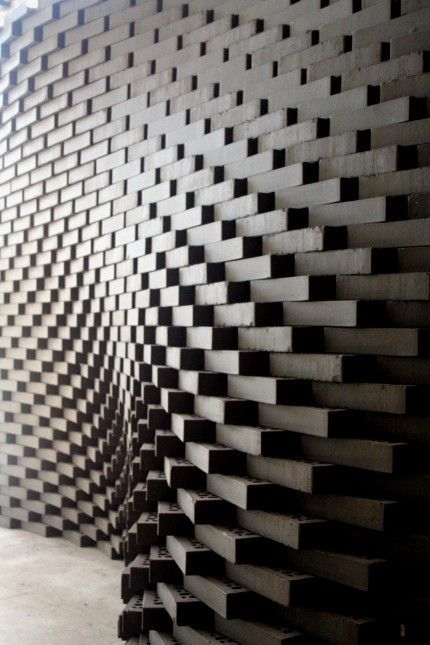 Parametric Brick Wall Parametrisches Design Ziegel Design Parametrische Architektur