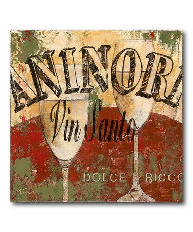 This Vin Santo Canvas is perfect! #zulilyfinds OSTERIA NUMERO UNO San Donato in Poggio - Firenze - Chianti www.osterianumerounosandonato.it