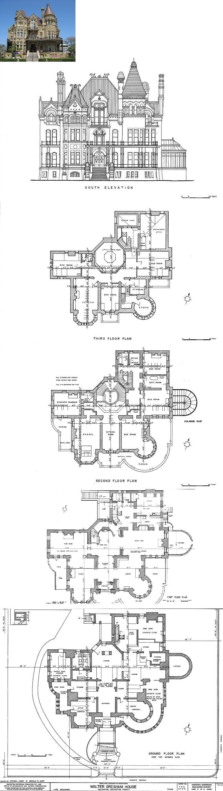Floorplans For Gilded Age Mansions Skyscraperpage Forum Bishops Palace Formally The Walter Gres Mansion Floor Plan Victorian House Plans House Blueprints