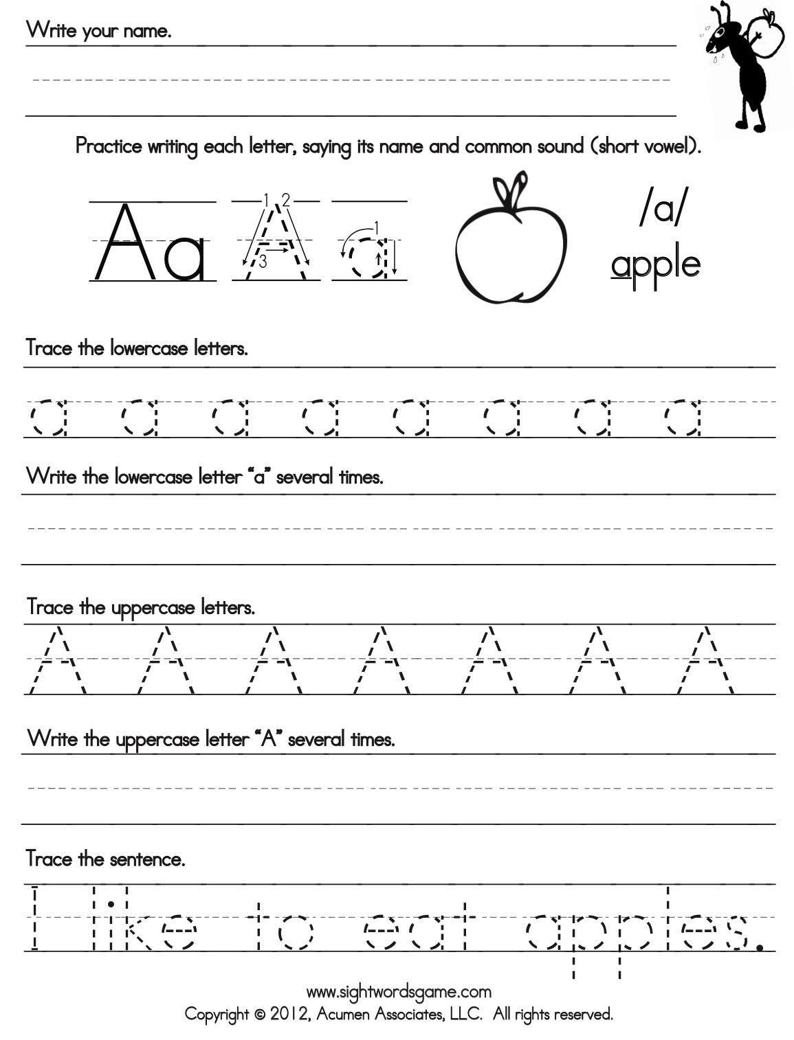 Abc Writing Worksheet