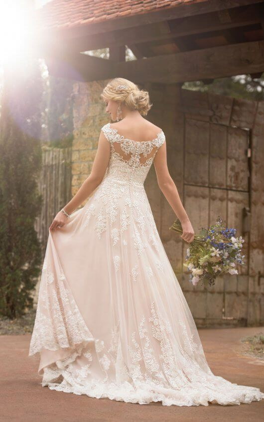D2327 Off The Shoulder Boho Wedding Gown By Essense Of Australia Essense Of Australia Wedding Dresses Essence Of Australia Wedding Dress Wedding Dress Styles