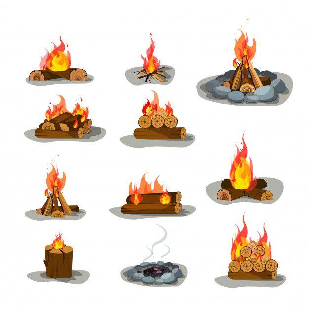 Download Bonfire S Set For Free Wood Illustration Free Cartoons Cartoons Vector