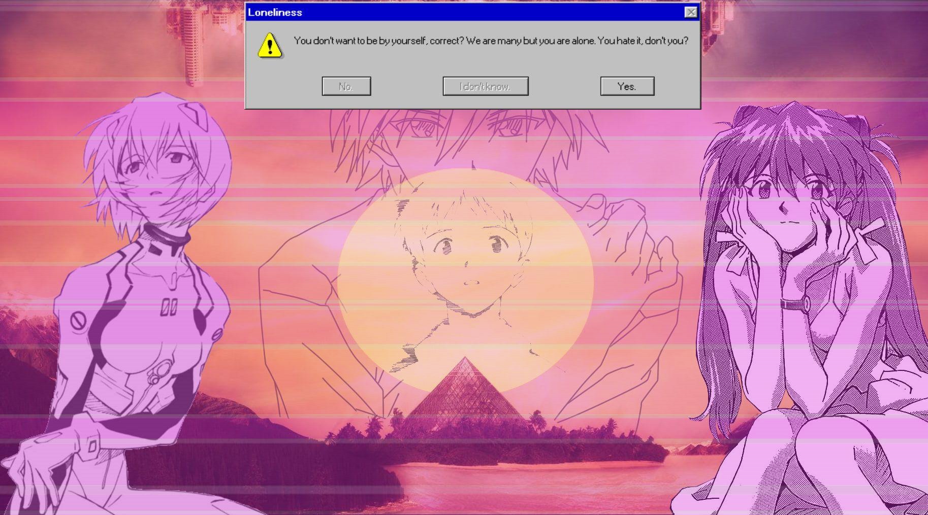 Neon Genesis Evangelion Ayanami Rei Asuka Langley Soryu Ikari Shinji Nagisa Kaworu Vaporwave Mecha Girl Neon Genesis Evangelion Evangelion Asuka Langley Soryu