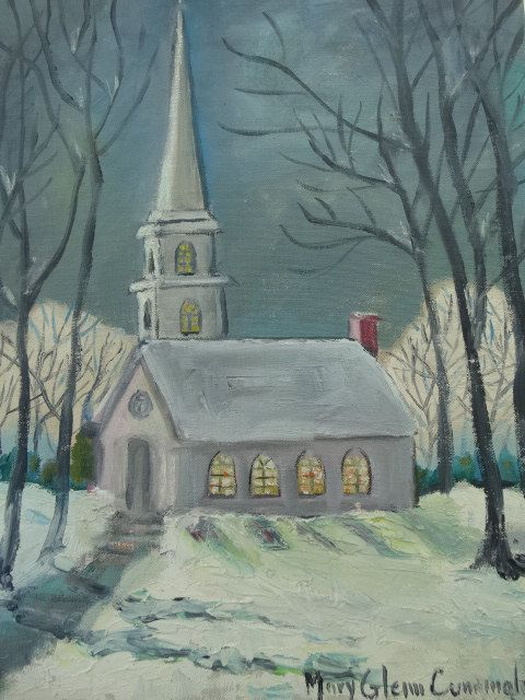 I HEARD THE BELLS ON CHRISTMAS DAY by Billy Jacobs 22x28 FRAMED PICTURE Church