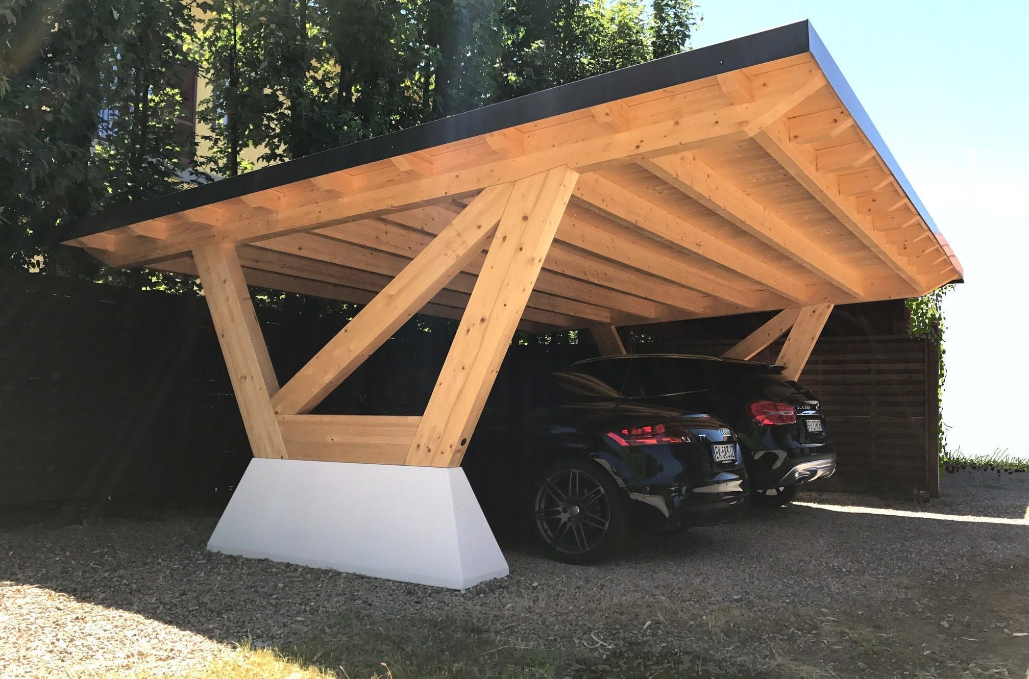 Concrete Carport Wooden New York Proverbio Outdoor Design Wooden Carports Carport Designs Building A Carport