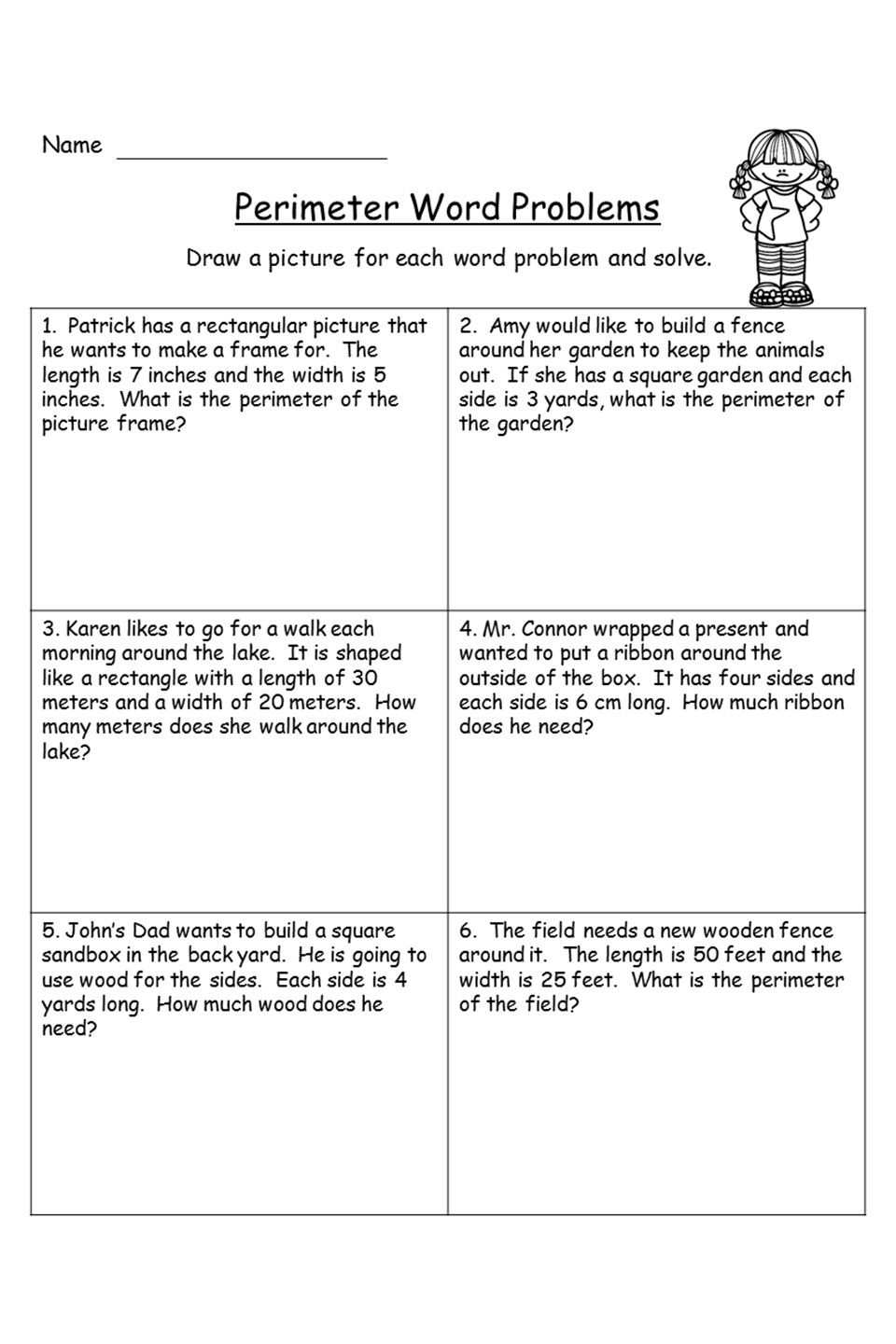 hight resolution of Perimeter Word Problems   Word problems