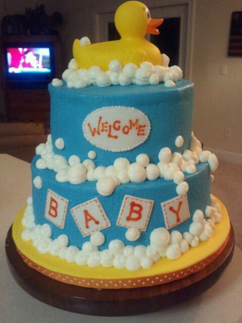 Ducky Baby Shower Cake With Images Baby Shower Duck Baby