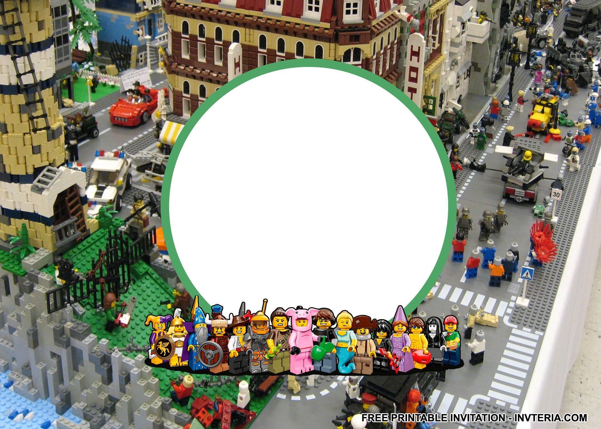 NICE BEST FREE PRINTABLE LEGO BIRTHDAY INVITATIONS IDEA   Invitation ...