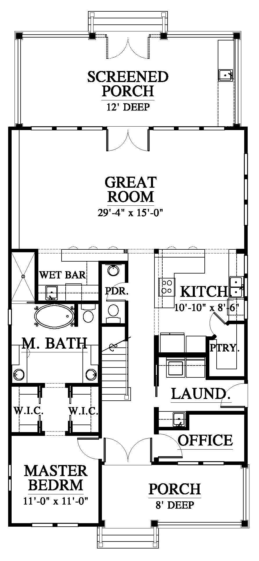 Mayfair 18325 House Plan 18325 Design From Allison Ramsey Architects Small House Floor Plans Cabin Floor Plans Small Floor Plans