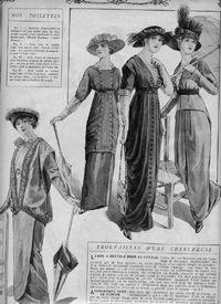 1913 draped skirt
