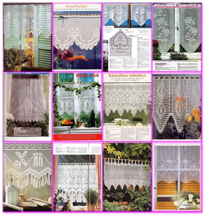 Dise o imagenes fotos galeria cortinas elaboradas crochet for Cortinas ganchillo
