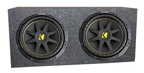 "2 Kicker 10"" 10C104 600W Car Subwoofers Comp Subs + Sealed Sub Box Enclosure. MAX Power Handling: 300 Watts per Sub (600 Watts per PAIR). RMS Power Handling: 150 Watts per Sub (300 Watts per PAIR). Impedance: Single 4 Ohm. Sensitivity: 86.2 dB. Frequency Response: 30-500 Hz."