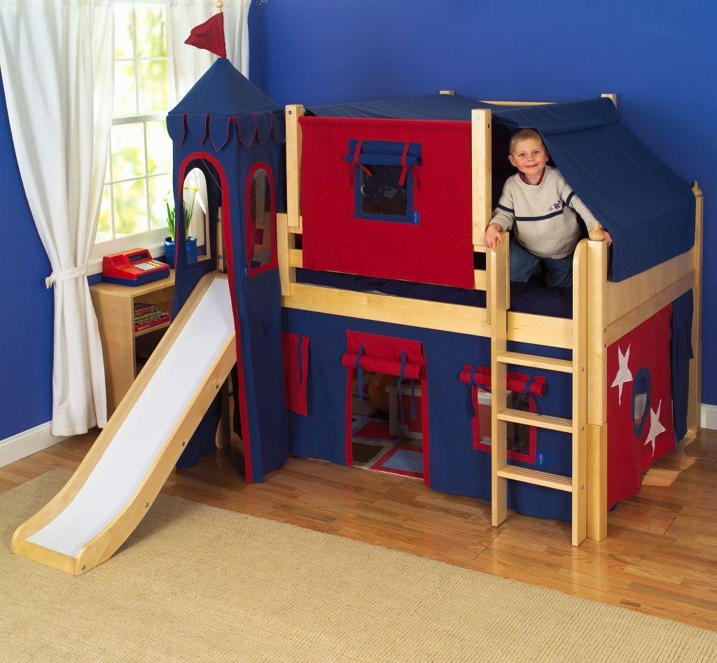 Full loft bed with slide  Little Boy Bedroom Sets  Boys Bedroom Sets  Pinterest  Boys