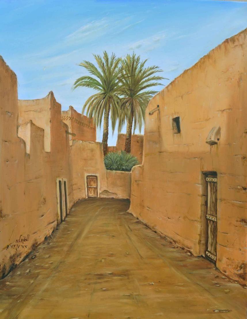 رسم بيوت قديمة Desert Painting Abstract Wallpaper Backgrounds Britto Art