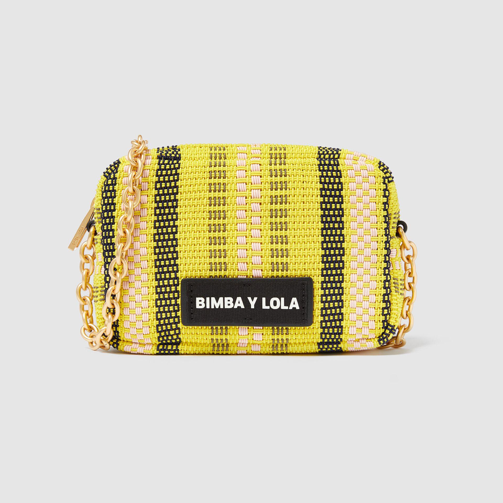 Mini Yellow Plaited Crossbody Bag 181Bbcd1Wt2100
